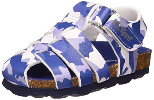Kickers Baby Jungen Summertan Sandalen, Blau (Bleu Camouflage 51), 24 EU