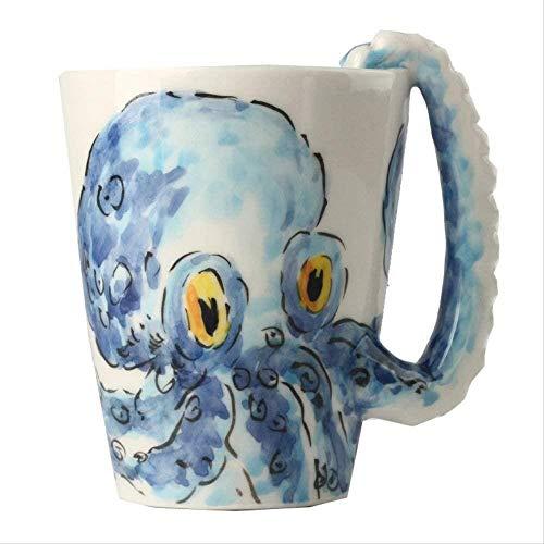 YONGYONGCHONG Tetera 300 ml Animal 3D Taza de cerámica Creativa Taza Animal Marino Pintado a Mano de cerámica 1yess Hervidor de Agua
