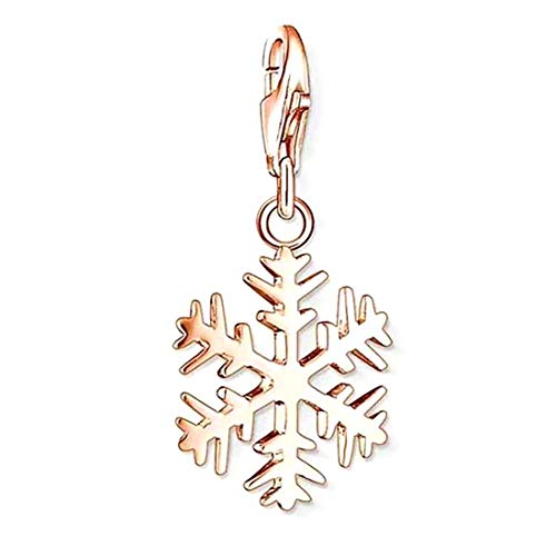 THOMAS SABO Eisblume Charm Anhänger Silber rosévergoldet 1029-415-12