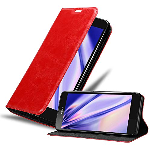Cadorabo Funda Libro para Sony Xperia Z en Rojo Manzana -