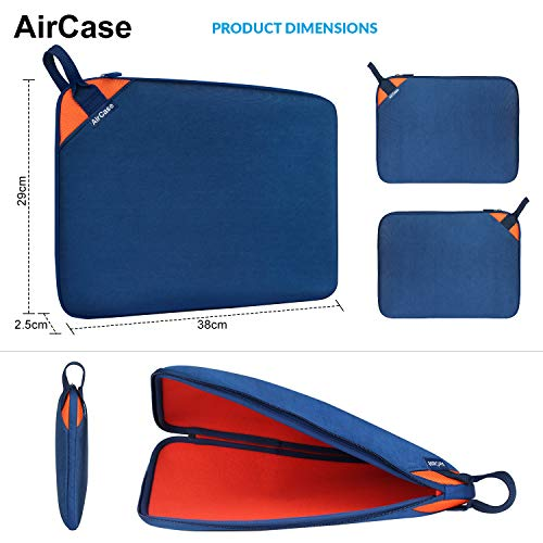AirCase Laptop Bag Sleeve Case Cover for 13-Inch, 13.3-Inch Laptop (Blue-Orange)