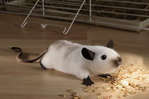 Kösener 7440 Stofftier Birmamaus Maus beige - braun 13 cm Kuscheltier Plüschtier Schmusetier Spielzeug Baby Kind Plüsch Alcantara