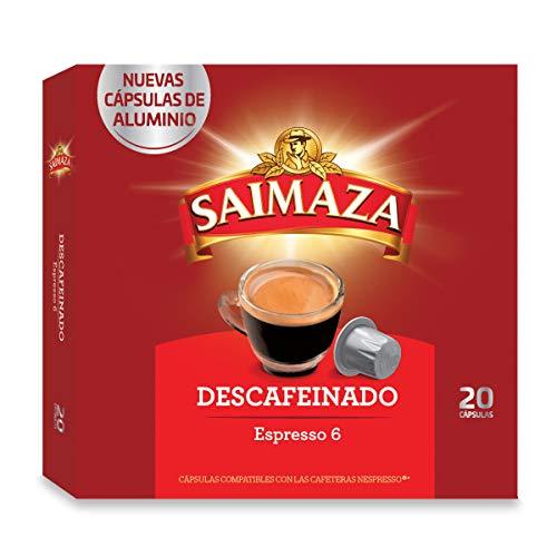 Saimaza Café Descafeinado, 20 Cápsulas