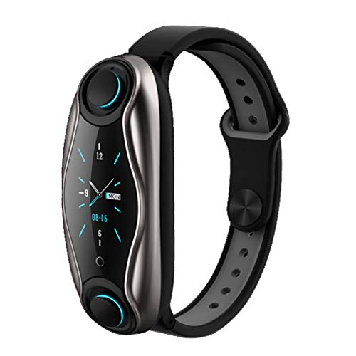 ZXQZ Relojes de Pulsera Reloj Deportivo Inteligente 2 En 1 con Bluetooth, Bluetooth 5.0, IP67 A Prueba de Agua, con Mensaje de Notificación de Llamada Entrante Push Activity Fitness Trackers Watches