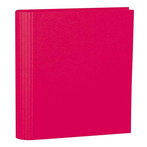 Semikolon (353302) Foto-Ordner 4 Ring pink (rosa) - Foto-Mappe zum Selbstgestalten mit Efalinbezug - Basis für Foto-Album oder Fotobuch