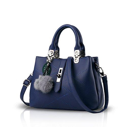 NICOLE & DORIS 2020 Neue Welle Paket Kuriertasche Damen weiblichen Beutel Handtaschen für Frauen Handtasche Blau