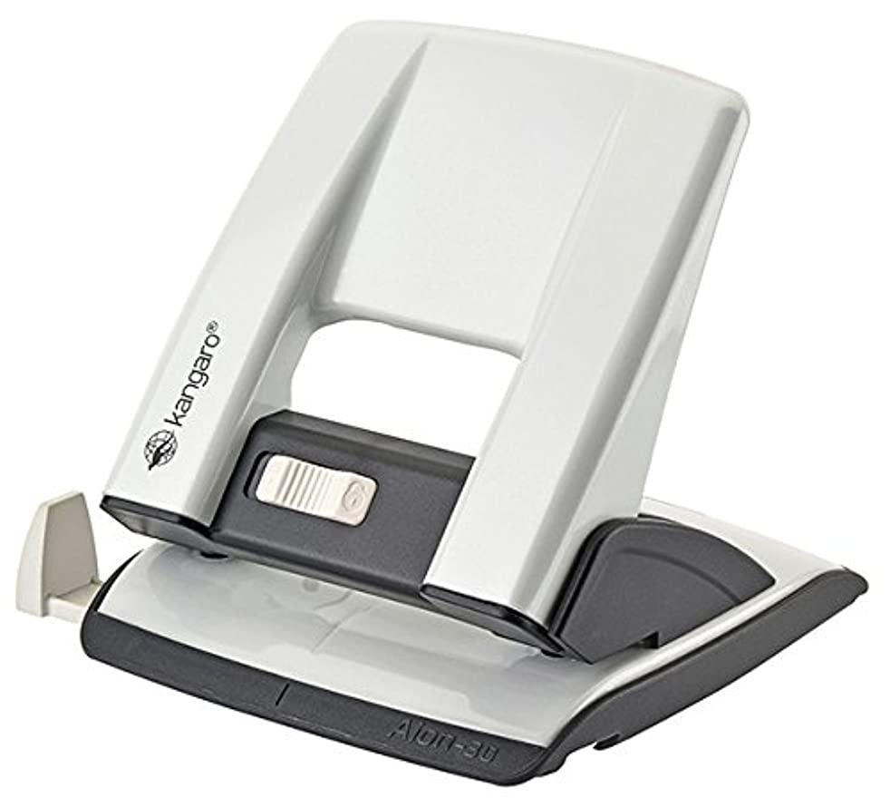Kangaro KAA30?Aion?–?30?g/s Hole Punch up to 30?Sheets, Metal, in Pp Box, White