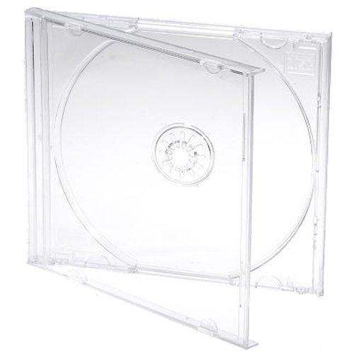 Cajas de CD/DVD Dragon Trading® de 10,4mm para 1 disco con bandeja transparente (paquete de 25 unidades)