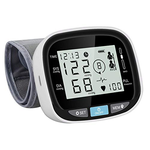 Wrist Blood Pressure Monitor - Accurate Automatic Digital BP Cuff Machine for Home Use, Easy to Carry, 2x99 Memory Dual Users Mode, Irregular Heartbeat Pulse Detector