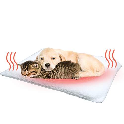 Fyore - Cuscinetti riscaldanti per animali domestici, per gatti, cani, piccoli animali domestici, con imbottitura termica che riflette il calore, 58 cm x 43 cm, lavabili