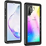 Temdan New Designed for Waterproof Samsung Galaxy Note 10 Plus Case,Clear Sound Quality Built in Screen Protector with Fingerprint ID Film IP68 Waterproof case for Samsung Note 10 plus/5G