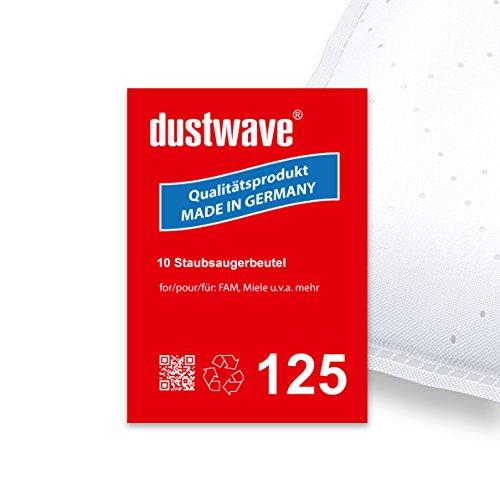 Sparpack - 10 Staubsaugerbeutel geeignet für Miele - S163 Electronic 1400 Staubsauger - dustwave® Markenstaubbeutel/Made in Germany + inkl. Microfilter