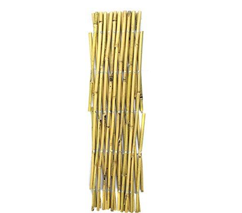 MEDIAWAVE Store Steccato Estensibile In Bamboo 377512 Giardino Recinzione 60X240 Cm