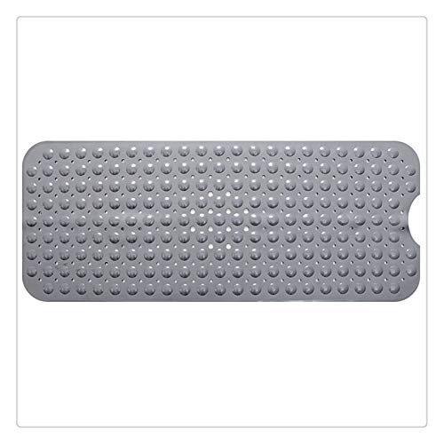 zyy Alfombra del Piso Baño Tira de PVC Masaje Antideslizante Insípido Succión Taza Cómodo Respirable Baño de Agua Ducha Alfombra (Color : Gray)