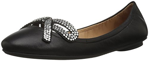 Marc Jacobs Women's Willa Strass Bow Ballerina Ballet Flat, Black, 36.5 M EU (6.5 US)