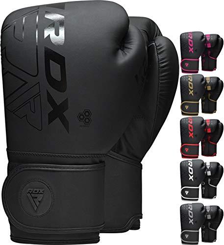 RDX Gants de Boxe pour Muay Thaï et Entraînement, Kara Gants en Maya Hide Cuir pour Kickboxing, Sacs de Frappe, Sparring, Vitesse Ball, Arts Martiaux et Pattes d'ours, Boxing Gloves