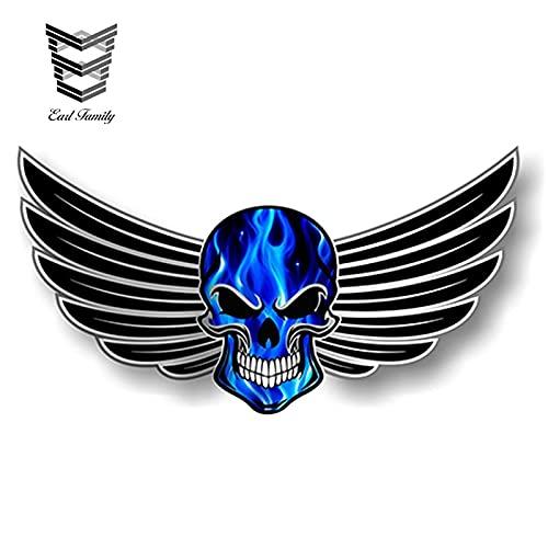 FAFPAY Sticker de Carro 13 cm x 7 cm cráneo gótico con...
