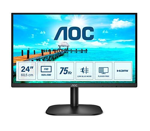 AOC 24B2XHM2 - 24 Zoll FHD Monitor (1920x1080, 75 Hz, VGA, HDMI) schwarz