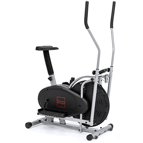 Best Choice Products 2-in-1 Elliptical Trainer and Exercise Bike Fitness Machine w/ LCD Display, Adjustable Resistance