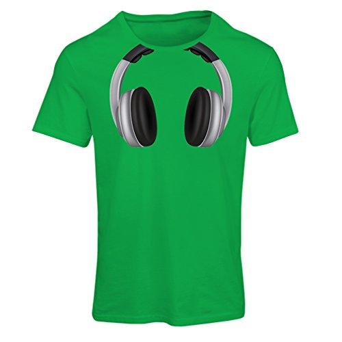 lepni.me Dames T-shirt Cool Hoofdtelefoon rond de nek Muziek Rock en Roll DJ Kleding