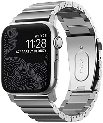 Nomad Titanium Band for Apple Watch 44mm 42mm Silver Hardware product image