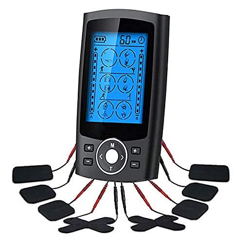 SUHETI Máquina Masajeadora TENS, Estimulación Eléctrica EMS para Aliviar El Dolor, Masaje De Relajación Muscular, Almohadilla De Electrodo Reutilizable, Recargable