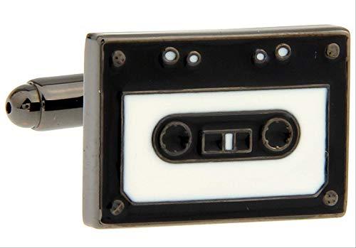 XKSWZD Grabadora de Cinta Gemelos Color Negro Bronce Material de latón Diseño de Cassette Vintage