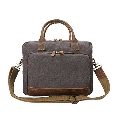 HONGHUIKE Mens Briefcase Laptop Briefcase 14 Inch Laptop Business Office Handbag For...