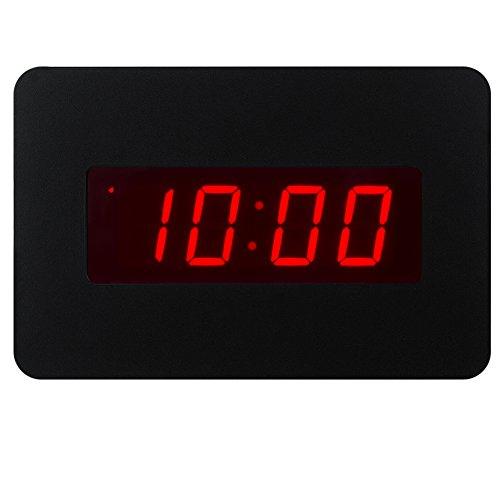 Timegyro orologio da parete elettrico per orologio da parete per camere da letto operato solo da batteria (nero), con il back-clip. Puoi metterlo su scrivania o parete