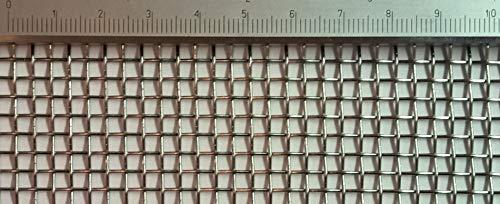 Drahtgeflecht Edelstahl Drahtgewebe mit 3,1 mm Maschenweite, 0,8 mm Drahtstärke. 2m x 1m