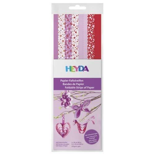 HEYDA Papier-Faltstreifen, rosa/rot, 130 g/qm VE = 1