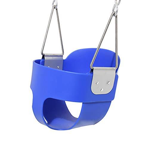 Columpio para niños Columpio EVA oscilación Cesta colgante Silla de bebé asiento de bebé columpio El columpio cubierta Baby Swing Columpio regulable en altura ( Color : Azul , Size : 28X25.4X29.2CM )