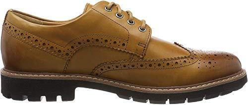 Clarks Herren Batcombe Wing Derbys, Braun (Tan Leather), 43 EU