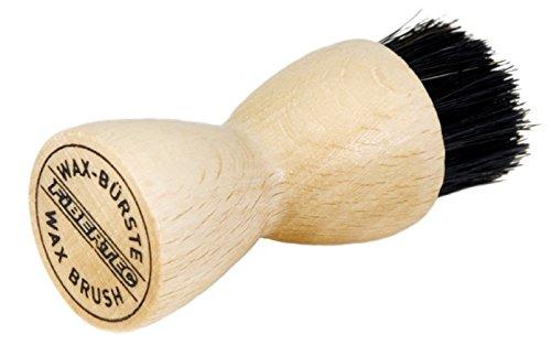 Fibertec Schuhbürste Auftragsbürste aus Buchenholz und Naturborsten für Schuhwachs
