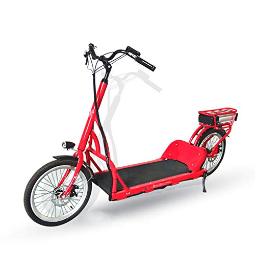 TWW Bicicleta para Pasear, Frenos De Disco Doble, Cómodo, Correr Eléctrico, Caminar, Equipo De Fitness Interior Y Exterior De Ocio para Hombres Y Mujeres,Rojo
