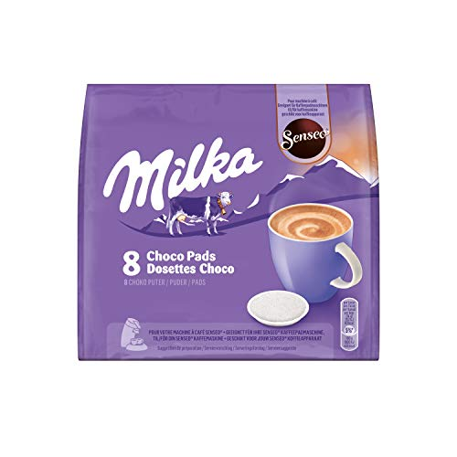 Senseo Milka Kakao Pads, 80 Senseo kompatible Pads, 10er Pack, 10 x 8 Getränke