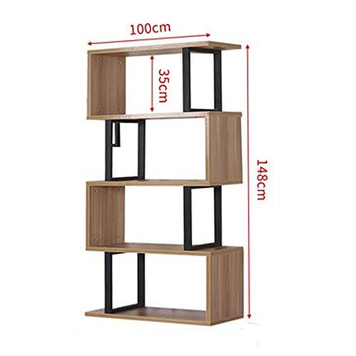 Bai Su BS Bücherregal, moderner minimalistischer Bücherregal, Vitrinenschrank im Wohnzimmer, bodenstehendes Bücherregal, Ablagefach, wirtschaftliche und umweltfreundliche Möbel Ausstellungsstand