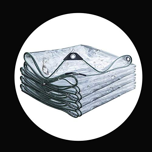 GHHZZQ Lona de protección Alta Transparencia Ojales Reforzados Ribete de Cuerda de Nailon Lona Alquitranada for Al Aire Libre Balcón Jardín Cámping, 0,3 mm Espesor (Color : Clear, Size : 3x5m)