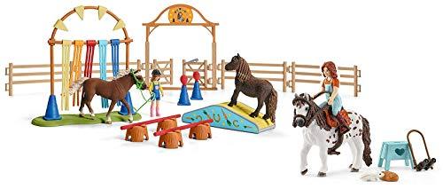 2in1-SET Schleich Pferde Horse Club - Mia & Spotty beim Pony Agility Training 42518 + 42481