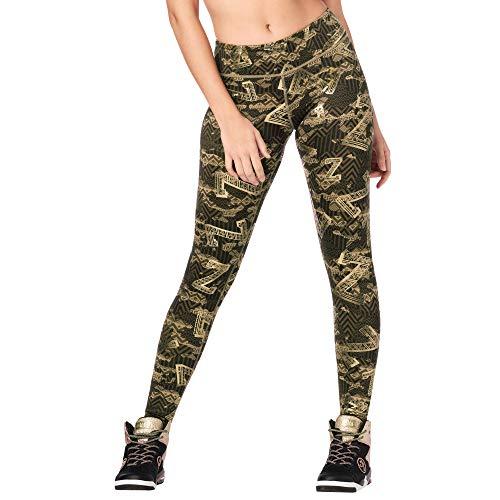 Zumba Fitness Breiter Bund Fitnesshose Workout Print Kompression Sporthose Damen