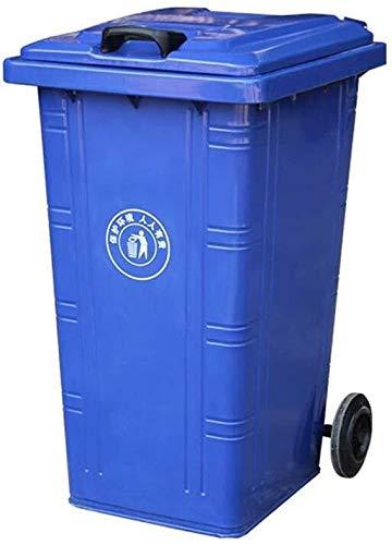 Outdoor Trash Can, Bügeleisen Große Trash Can Park Street Wheeled Trash Can Schwer Multi-Funktions-Trash Can/Größe, 53 * 46 * 83CM (Color : Blue, Size : 100L)