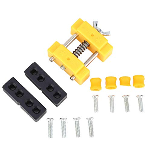 Operalie Mini Vise,Mini Bench Vise Hobby Table Drill Press Craft Watch Jewelry Clamp Repair Tool Suitable for Carving.