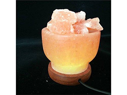 HSDDA USB vuurschaal natuurlijke Himalaya kristal zout lampen nachtlampje voor slaapkamer met USB-kabel