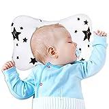 Almohada para Bebé, Almohada Moldeadora de Cabeza de Bebé Anti Excéntrica, Adecuada para Todas las Estaciones, Bebés y Recién Nacidos - Almohada de Algodón Suave para Bebé (Estrella)