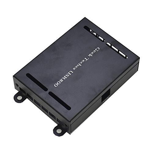 YINCHIE MUKUAI20 - Carcasa de metal para 8 canales, 12 V, módulo de placa de relé USB, controlador de automatización, robótica, casa impertinente, controlador USR800, color negro