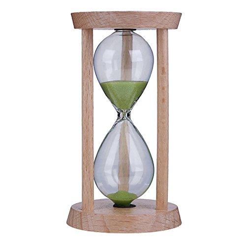 Starnearby dibujos animados Soporte de cepillo de dientes Portacepillos baño Niños Cepillos Cronómetro Temporizador de 3minutos reloj de arena tiempo Creativo Ornamente, Verde
