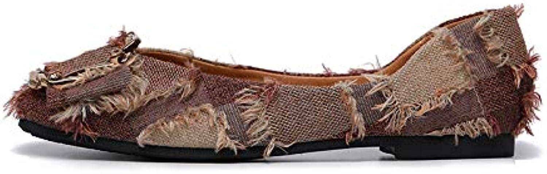 HOESCZS 40 Große Größe Frauen Schuhe Frühling Neue Flache Schuhe Weiche Unterseite Frühlingsrolle Schuhe Mode Wilde Vier Jahreszeiten Flacher Mund Mode Schuhe  | Deutsche Outlets