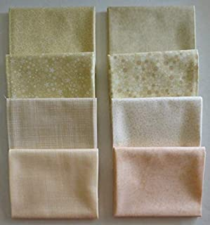 Basically Patrick Lose by RJR Fabrics~Cotton Fabric~Ivory/Peach~Fat Quarter Bundle of 8
