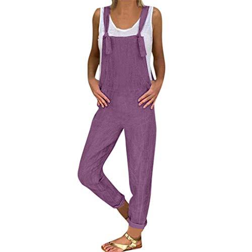 SHINEHUA Dames gestreepte baggy broek casual jumpsuits bib broek zomerbroek Playsuit lange brede legbroek rompers bib overall