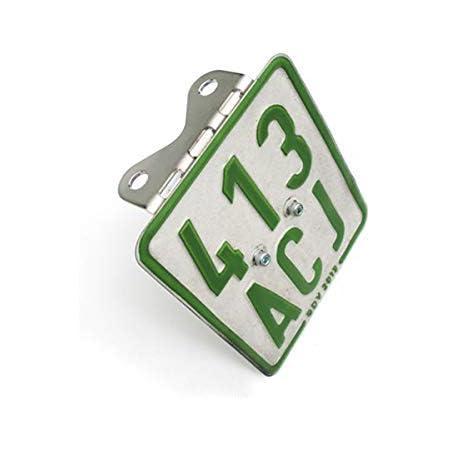 50ccm Edelstahl Halter Für Versicherungskennzeichen Universal Nummernschildhalter Kennzeichenhalter Für Roller Und Mopeds Auto